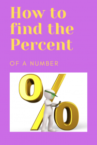 how to find the percent of a number