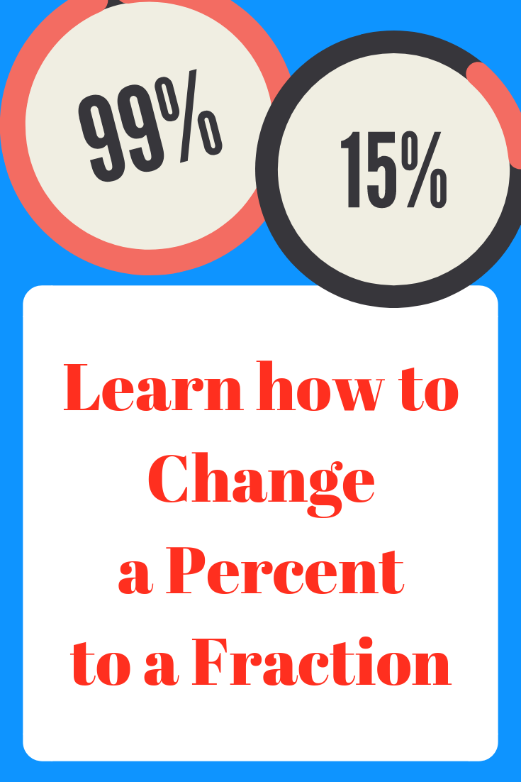 how to change a percent to a fraction