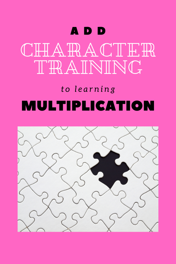 add character training to learning multiplication