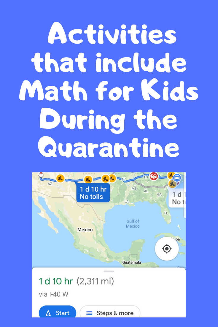 activities that include math for kids during quarantine