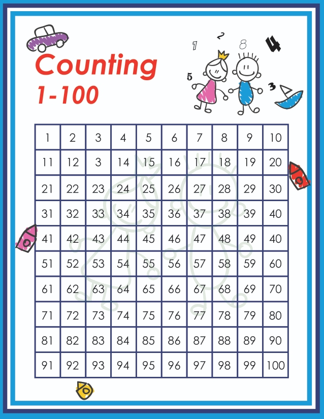 counting to 100 chart for kids