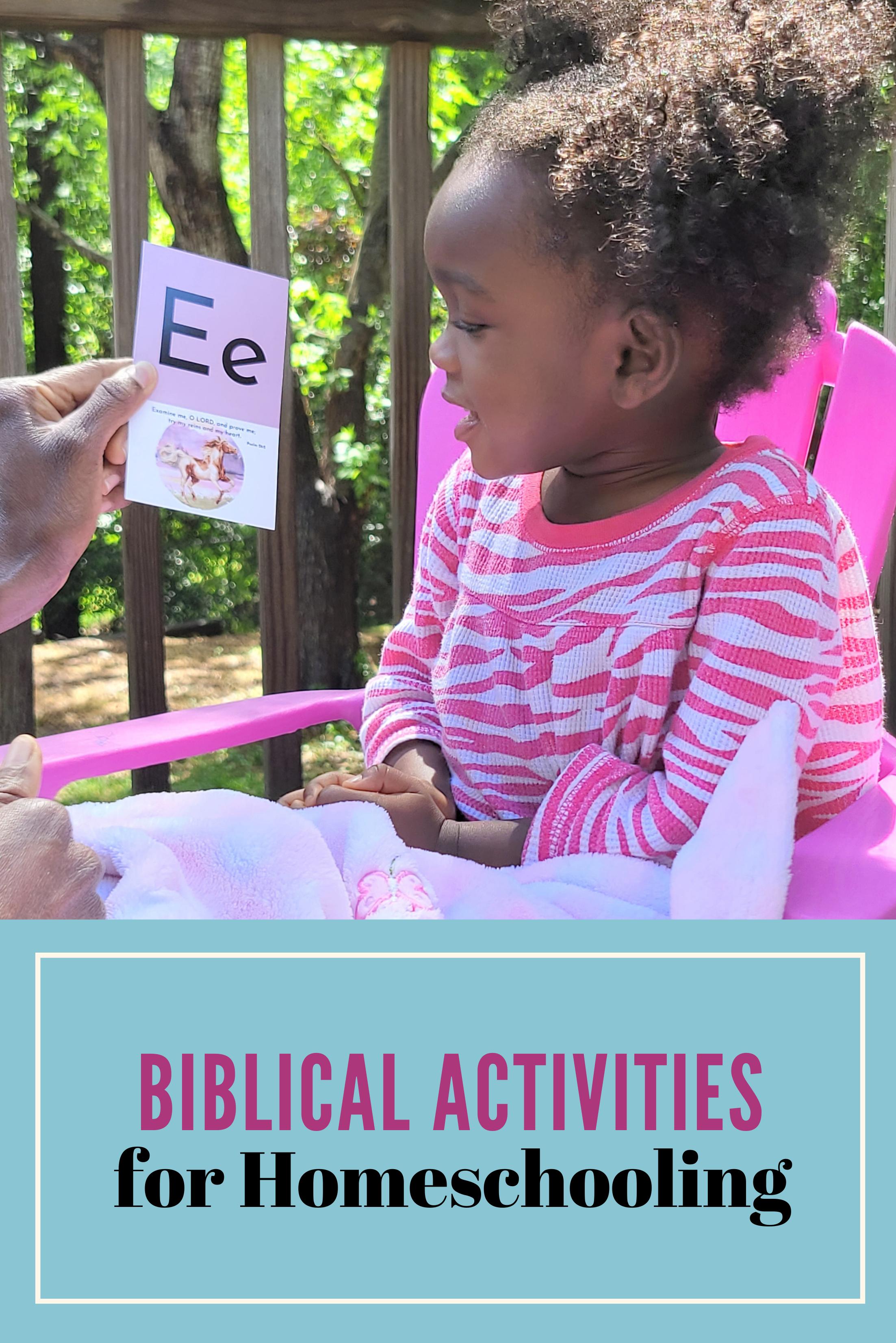 ideas for Biblical Activities for homeschooling