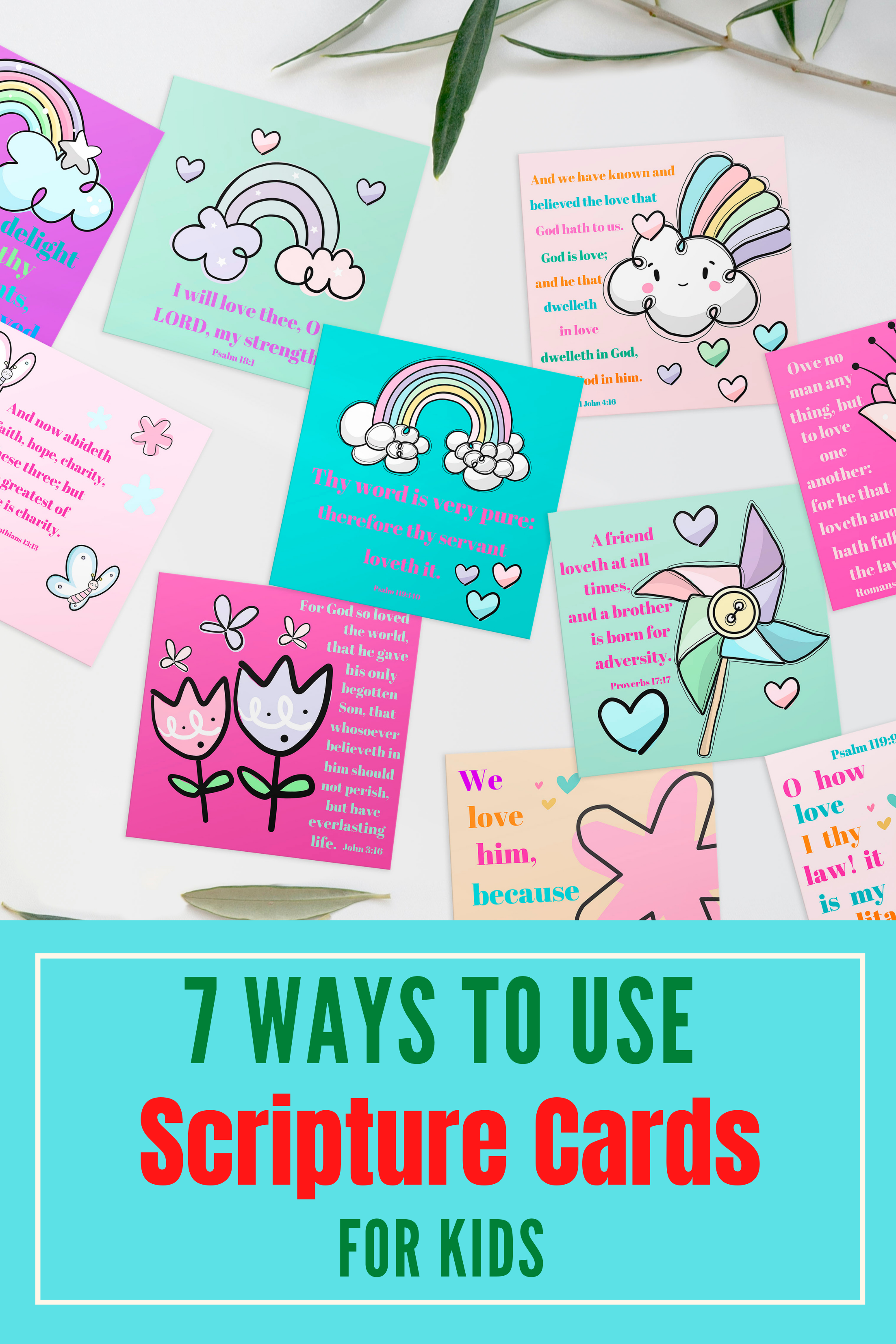 ways to use scripture cards for kids