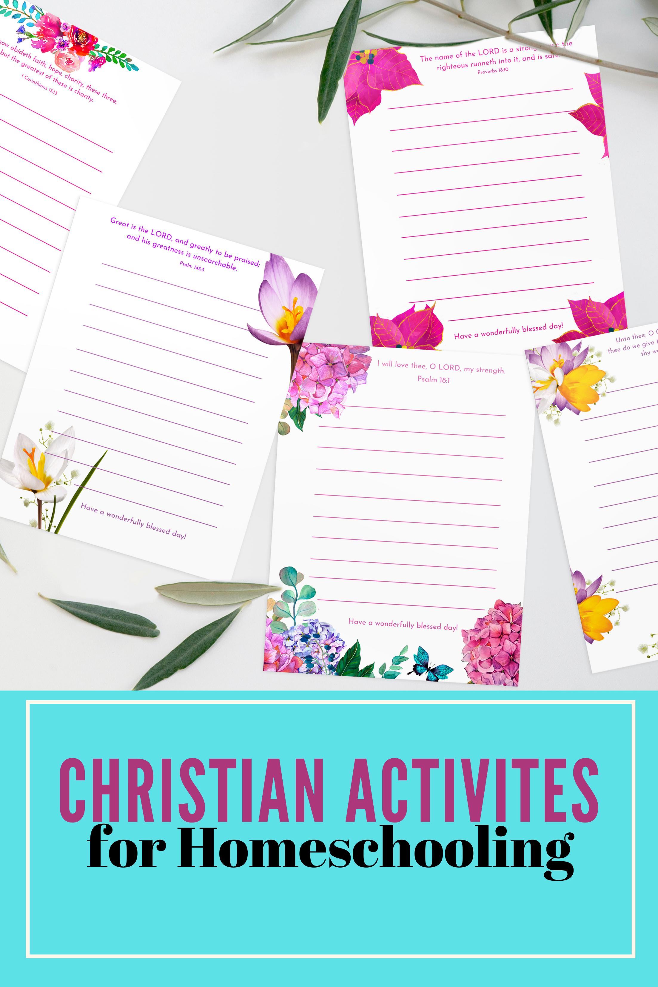Christian stationery for girls